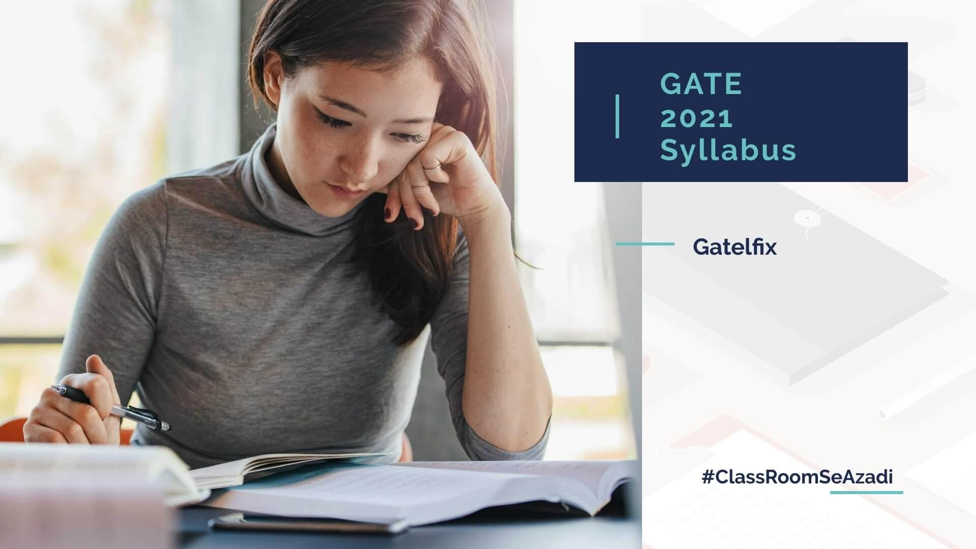 GATE 2021 Syllabus pdf
